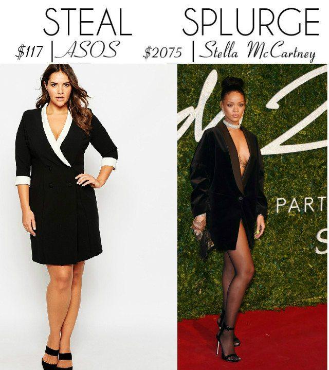 Steal vs. Splurge: Stella McCartney Tuxedo Dress