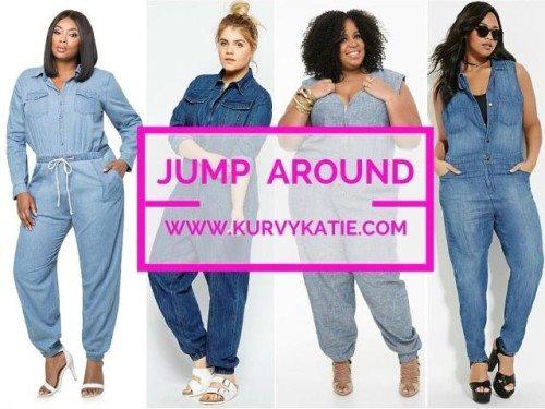 plus size denim jumpsuits