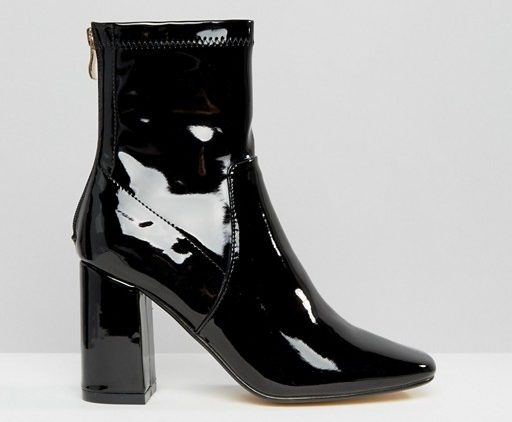 Truffle Collection Harp Sock Heeled Ankle Boots
