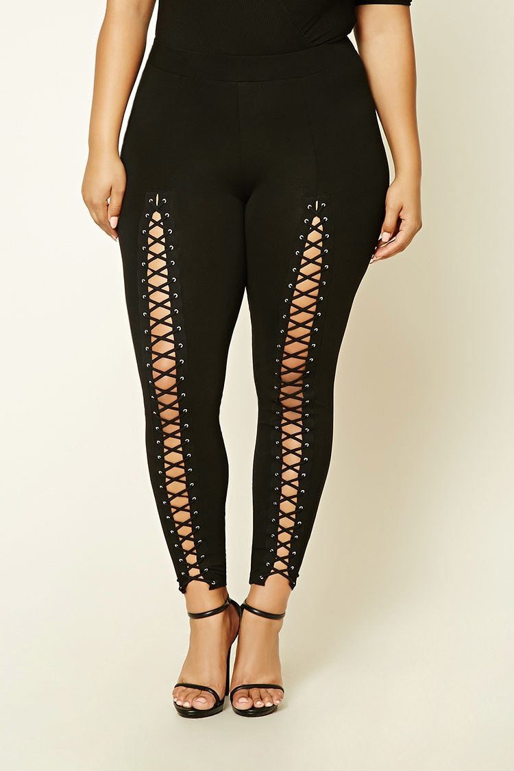 forever 21 crisscross leggings Lace Up Pants