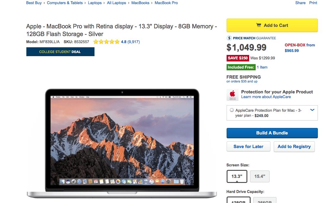 MacBook Pro Model: MF839LL/A