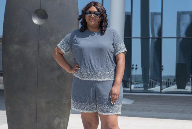 ASOS CURVE Scatter Embellished Shorts Co-Ord