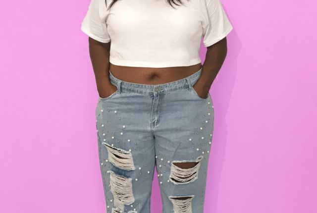 plus size pearl jeans